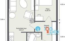 Byt 2+kk Písnice - 1. Floor - 2D Floor Plan
