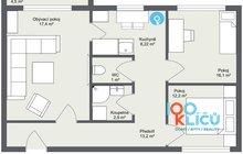 Byt 3+1 Orlová Poruba byt - 1. Floor - 2D Floor Plan
