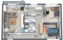 Byt 3+1 Orlová Poruba Byt - 1. Floor - 3D Floor Plan