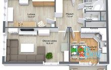 Varenská 2+1 - 1. Floor - 3D Floor Plan
