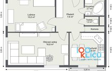 Varenská 2+1 - 1. Floor - 2D Floor Plan