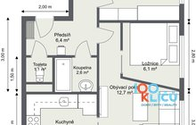 Bohumínská 64 - 1. Floor - 2D Floor Plan