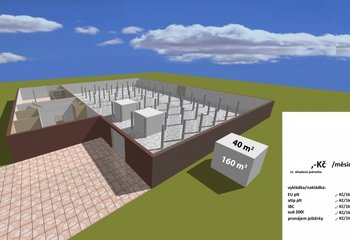 Lease of a warehouse with services - storage of pallets - up to 4500 m2 - Ústí n. Orlicí.