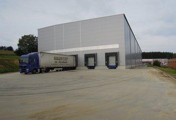 Vermietung von Lagerdienstleistungen, bis zu 16.000 Palettenplätze - Pelhřimov