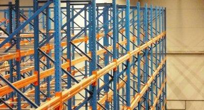Vermietung von Lager mit Logistikdienstleistungen, Paletten Stau