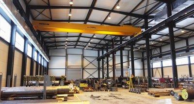 Pronájem - skladovací a výrobní prostory 2330 m2 s jeřábem (2x 20t), okr. Kladno