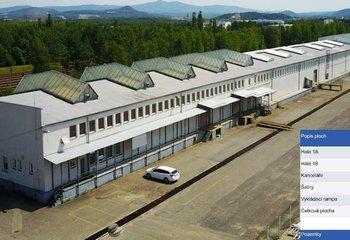 Pronájem - skladovací a výrobní prostory - 3.644 m2, okr. česká Lípa, Liberecký kraj