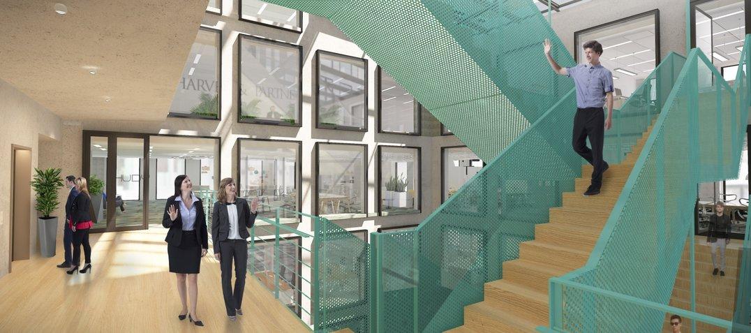 Praga Studios_lobby_upper floor