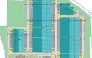 mapa Layout modra