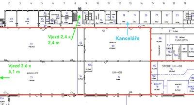 Pronájem: Skladovací a výrobní prostory Vodochody/Praha - východ, D8