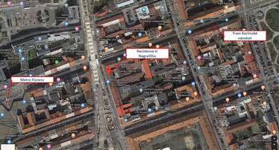 Pronájem Obchodních prostor, Rezidence u Negrelliho cca 50 m² - Praha 8 - Karlín