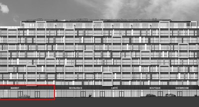 Pronájem, Obchodní prostory o velikosti 269 m² s krásnou 40ti metrovou výlohou