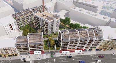 Pronájem nových obchodních prostor Praha 4 - Nusle - 151, 161 a 174 m2