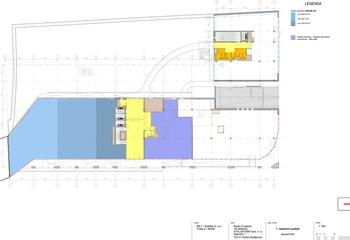 Pronájem obchodních prostor 100 - 480 m2 - budova G - Michle