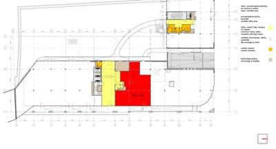 Pronájem obchodních prostor 160 - 480 m2 - budova G - Michle