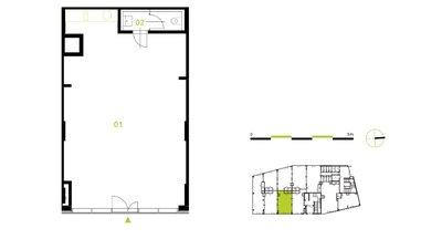 Nové obchodní prostory - 63 m² - Praha 4 - Československého exilu