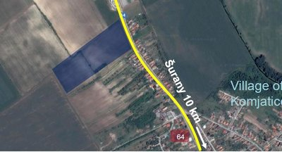 Pozemok s vydaným UR v obci Komjatice