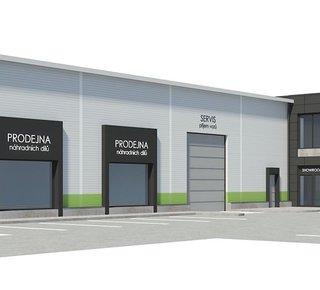 Pronájem skladového prostoru - 1.820 m² - Dolní Rychnov