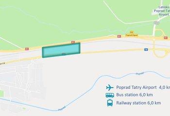 Industriálny pozemok s vydaným UR v Poprade/ Industrial plot for sale with zoning permit in Poprad