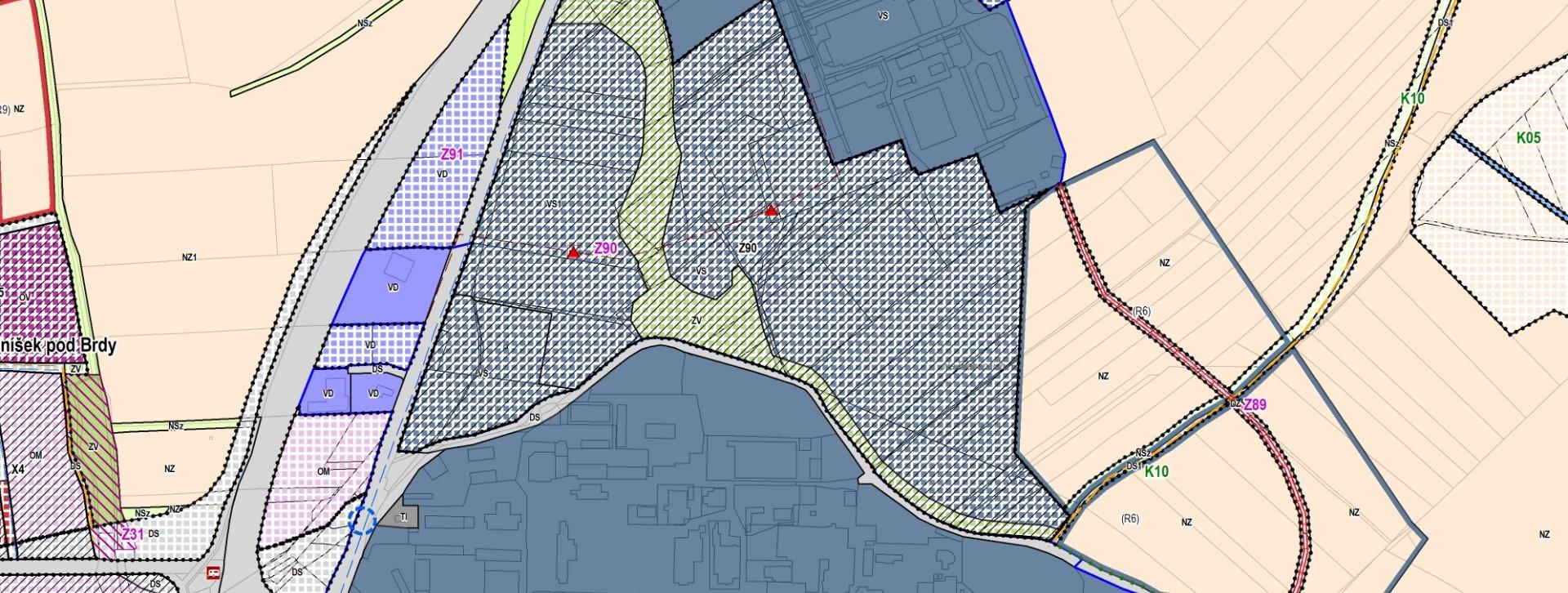 Katastrální mapa 2 Mníšek pod Brdy