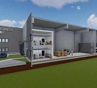 "BUSINESS BOXy (sklad, showroom, office) na predaj/ prenájom – Trnava 300-600m2/ Warehouse boxes for lease/ sale Trnava"""