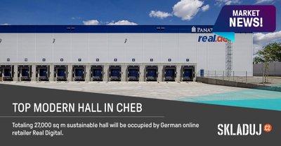 Moderní hala v Chebu bude sloužit jako hlavní distribuční centrum