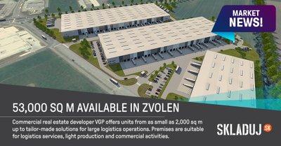Vo Zvolene vyrastie priemyselná hala s rozlohou 53.000 m2