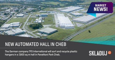 Nová hala v Panattoni Parku Cheb bude sloužit k recyklaci oděvních ramínek