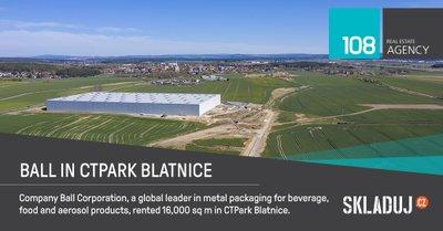Prvním nájemcem CTPark Blatnice je Ball Corporation