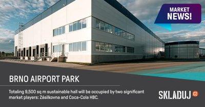 Zásilkovna a Coca-Cola HBC se stěhují do komplexu u brněnského letiště