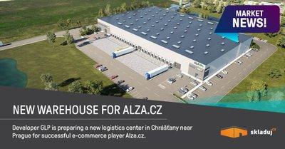 Alza.cz bude využívat nový sklad v Chrášťanech u Prahy