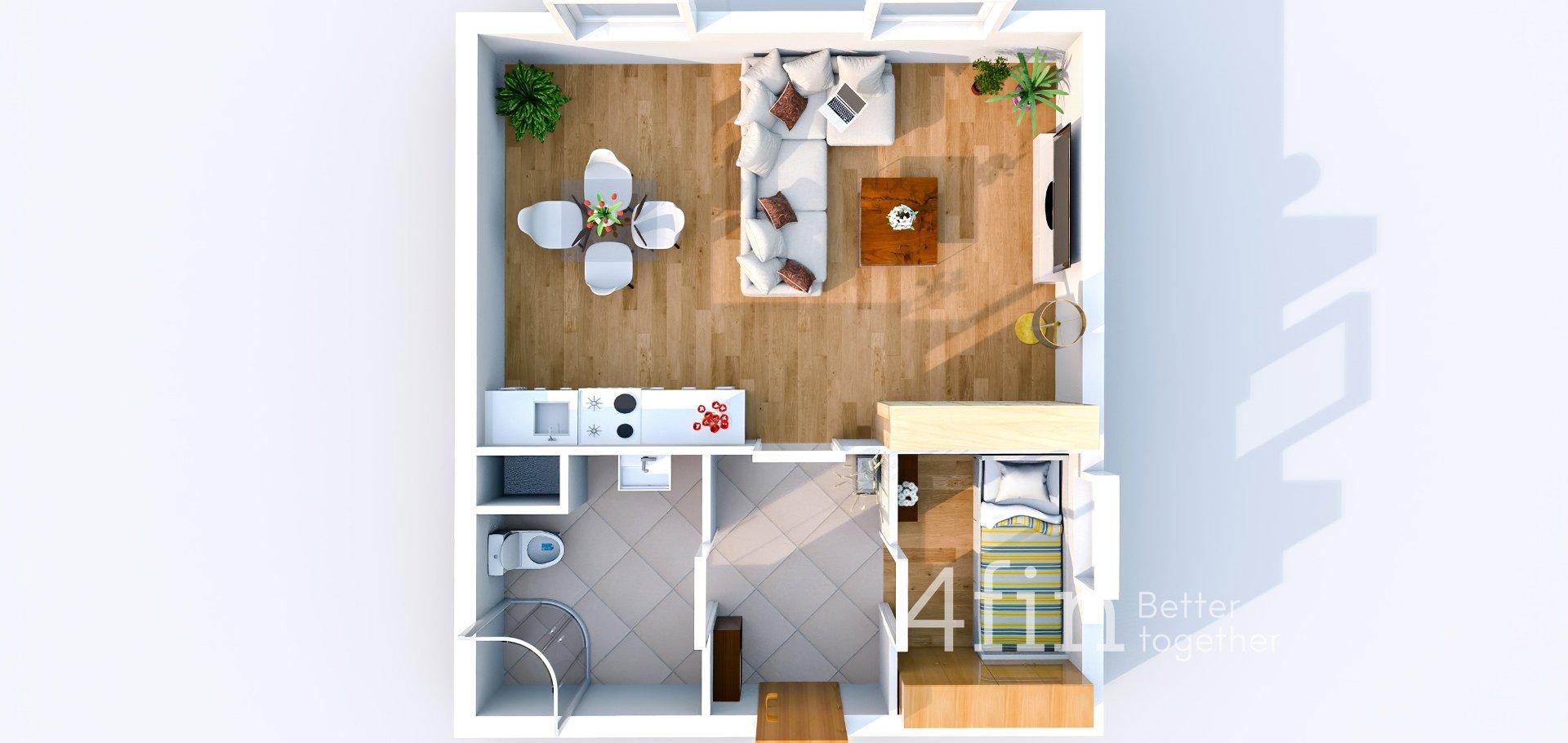 Prodej, Byty 1+kk, 37m² - Úholičky