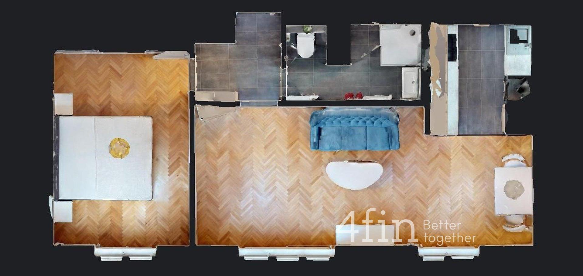 Pronájem luxusního bytu 2+kk - 49m² , Praha - Podolí