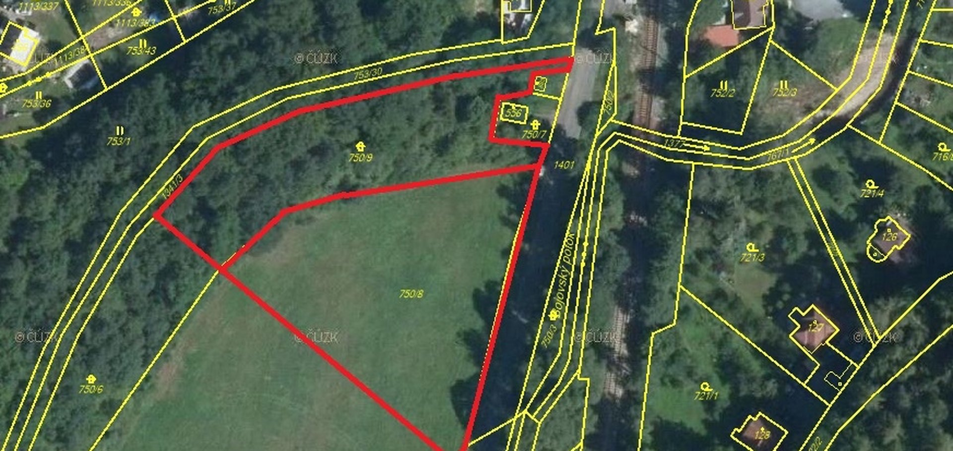 Prodej, Zemědělská půda, 4945m² - Čisovice - Bojov
