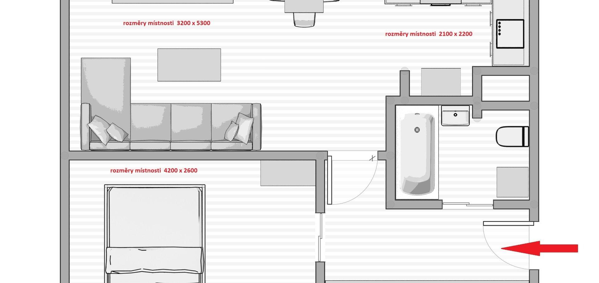Pronájem bytu 2+kk, 45 m², Vysočanská, Praha - Prosek