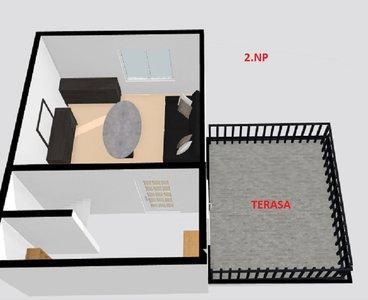 půdorys 3D 2NP