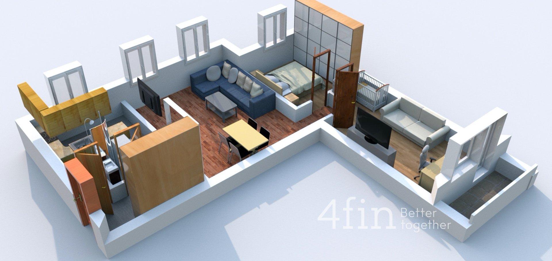 Prodej třípokojového bytu s lodžií a sklepem
