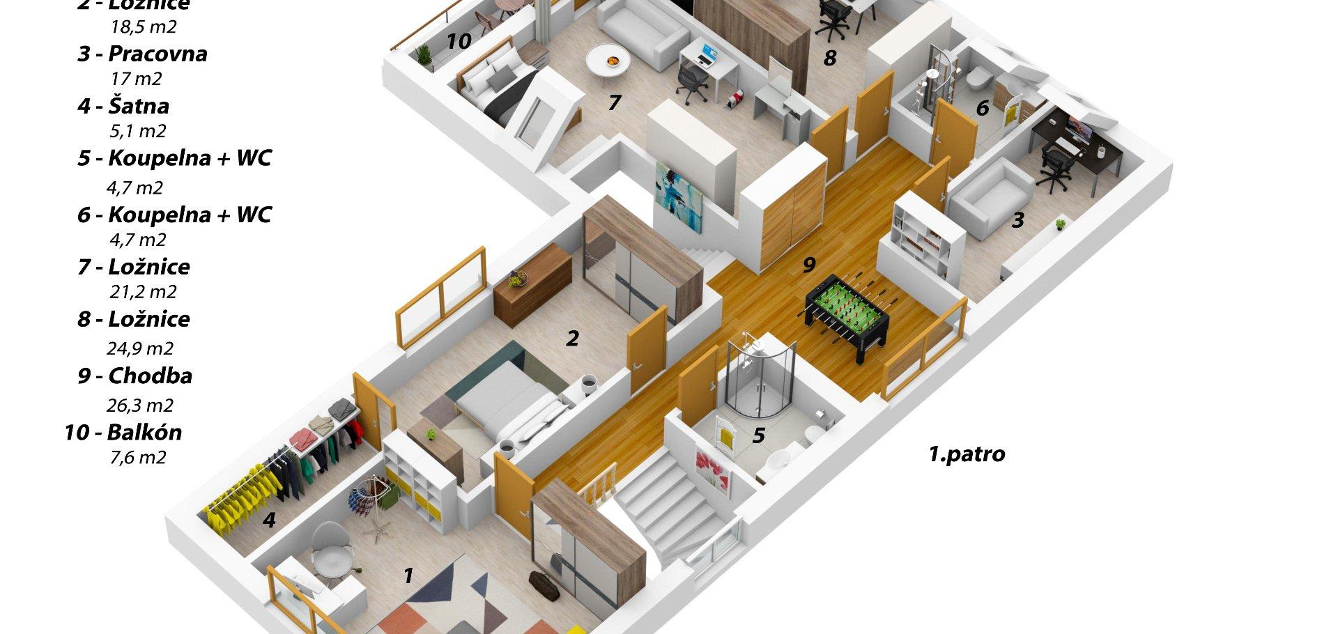 Prodej, Rodinné domy, 8+kk, 270 m² - Chýně