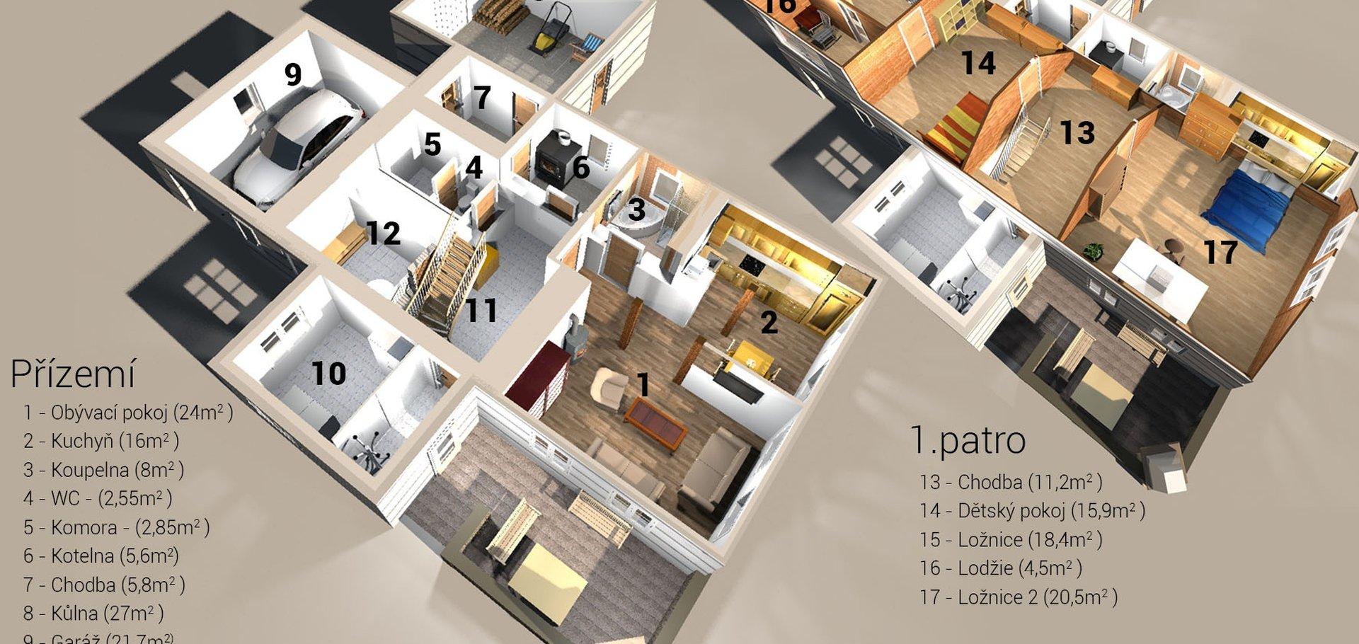 Prodej, Rodinné domy, 213m² , pozemek 1987 m2, Osečná - Druzcov
