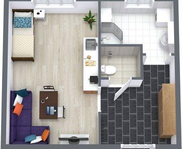 1Klatovy - 1. Floor - 3D Floor Plan