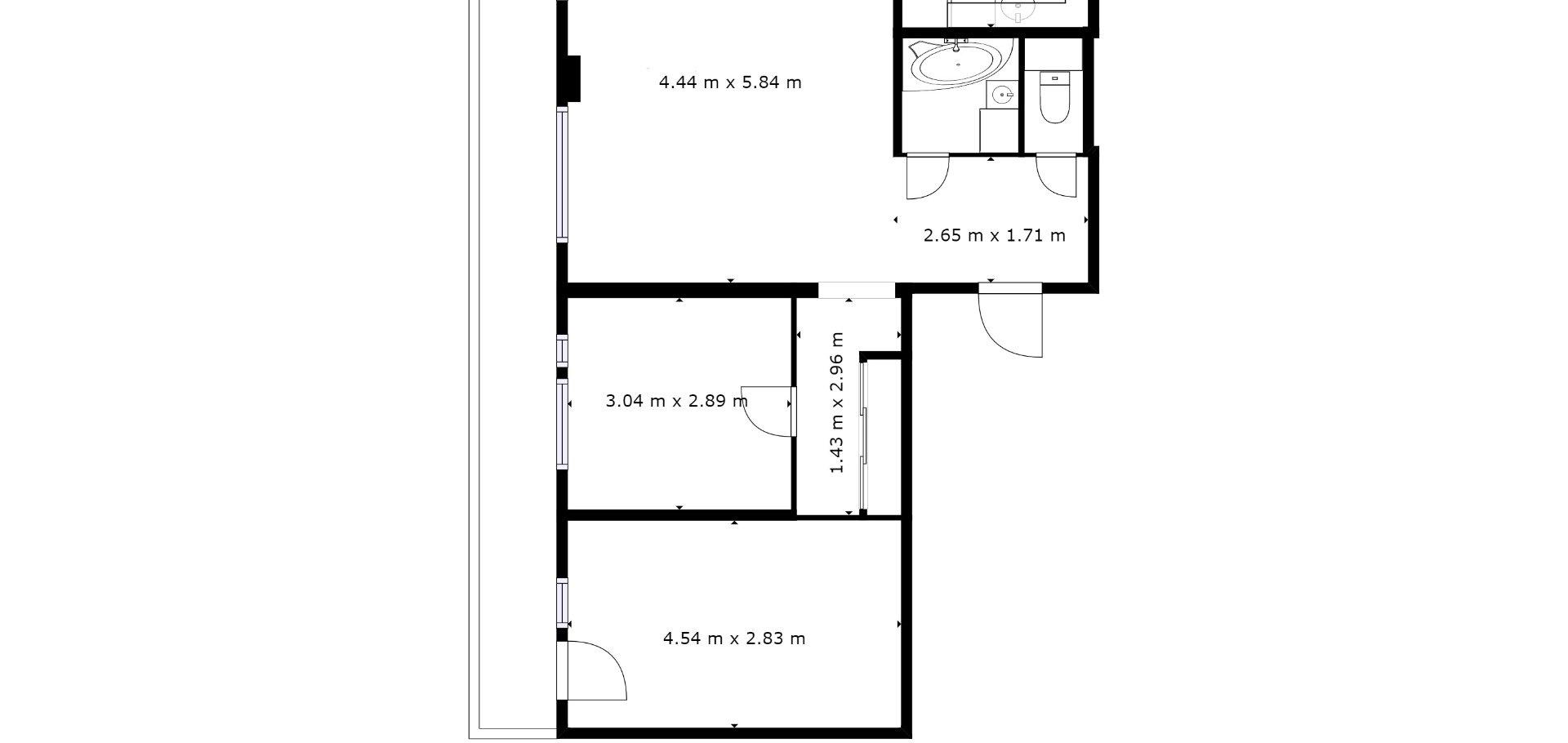 Prodej ,  Byty 3+1/L ,  72m² - Slaný