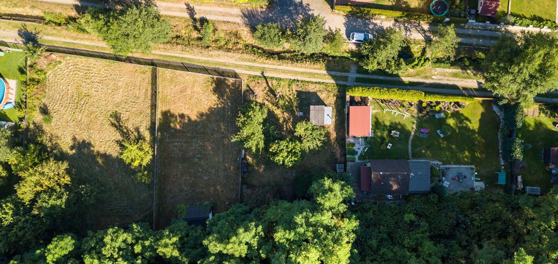 Prodej zahrady 394 m2 Plzeň Božkov