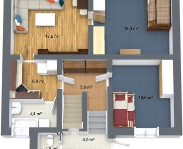 Suchan Stará Role - 1. Floor - 3D Floor Plan