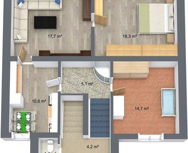 Suchan Stará Role - 2. Floor - 3D Floor Plan