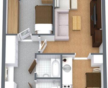 Byt Praha kamýk - 1. Floor - 3D Floor Plan
