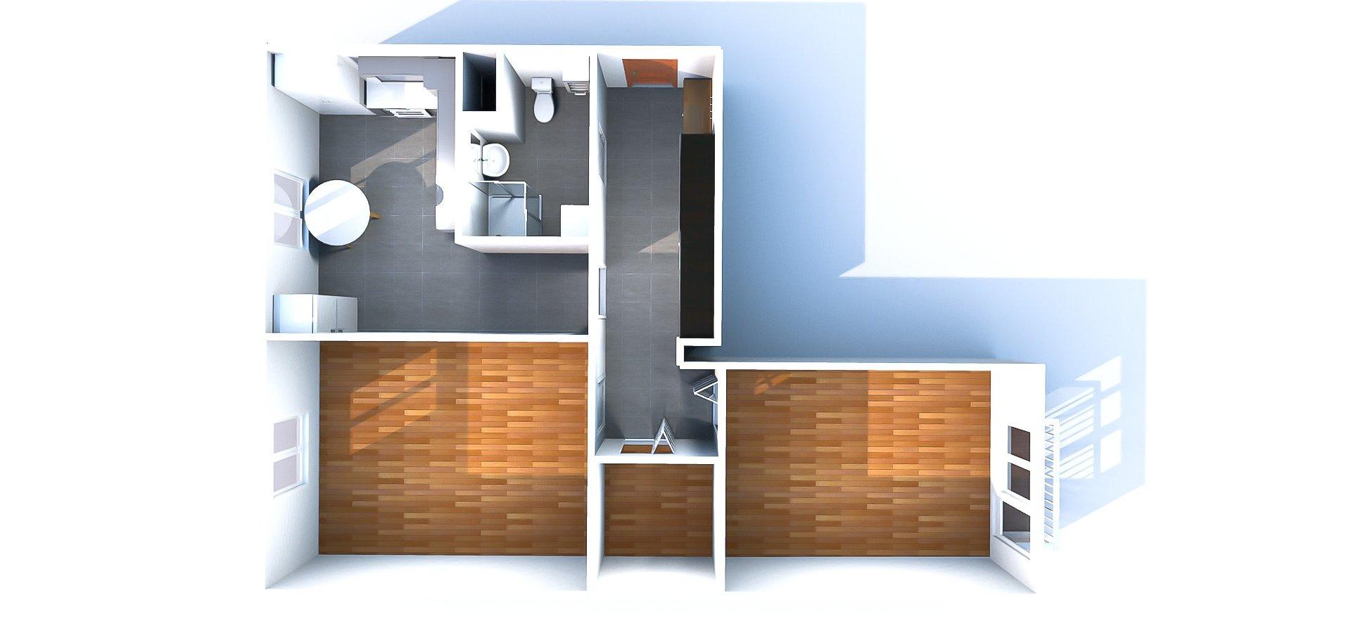 Pronájem bytu 2+1, 52 m2 + balkón