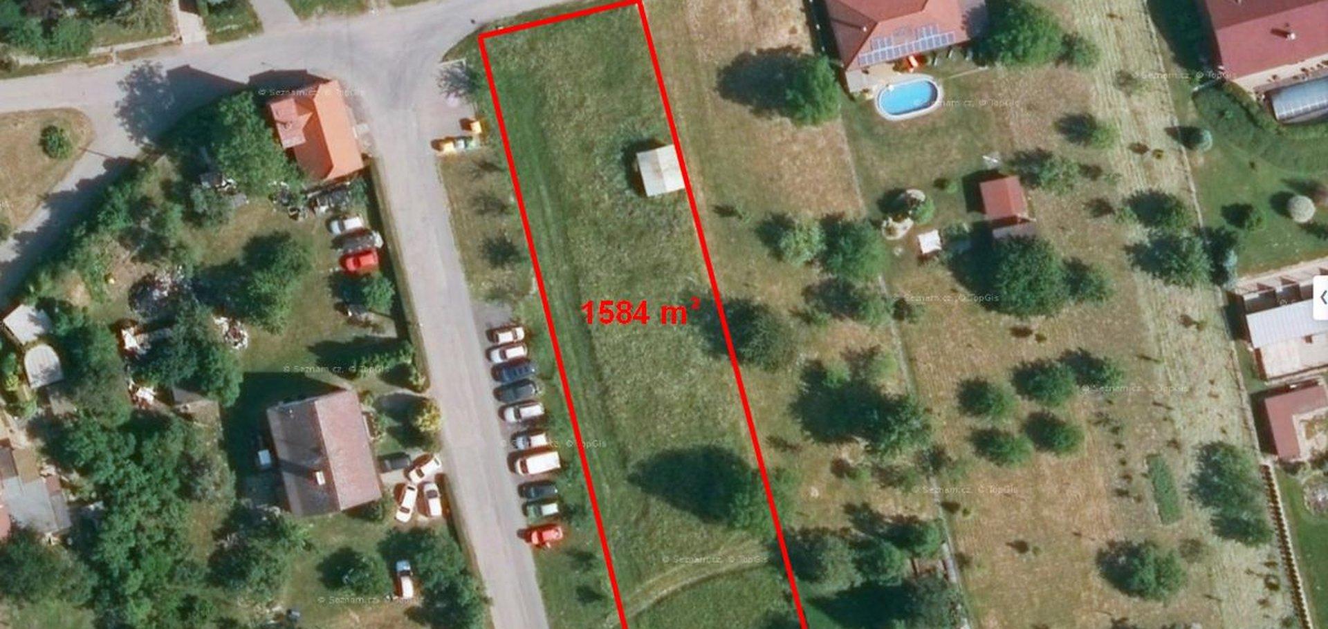 Prodej stavebního pozemku 1584 m²