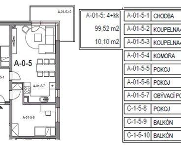 pudorys+velikost pokoju