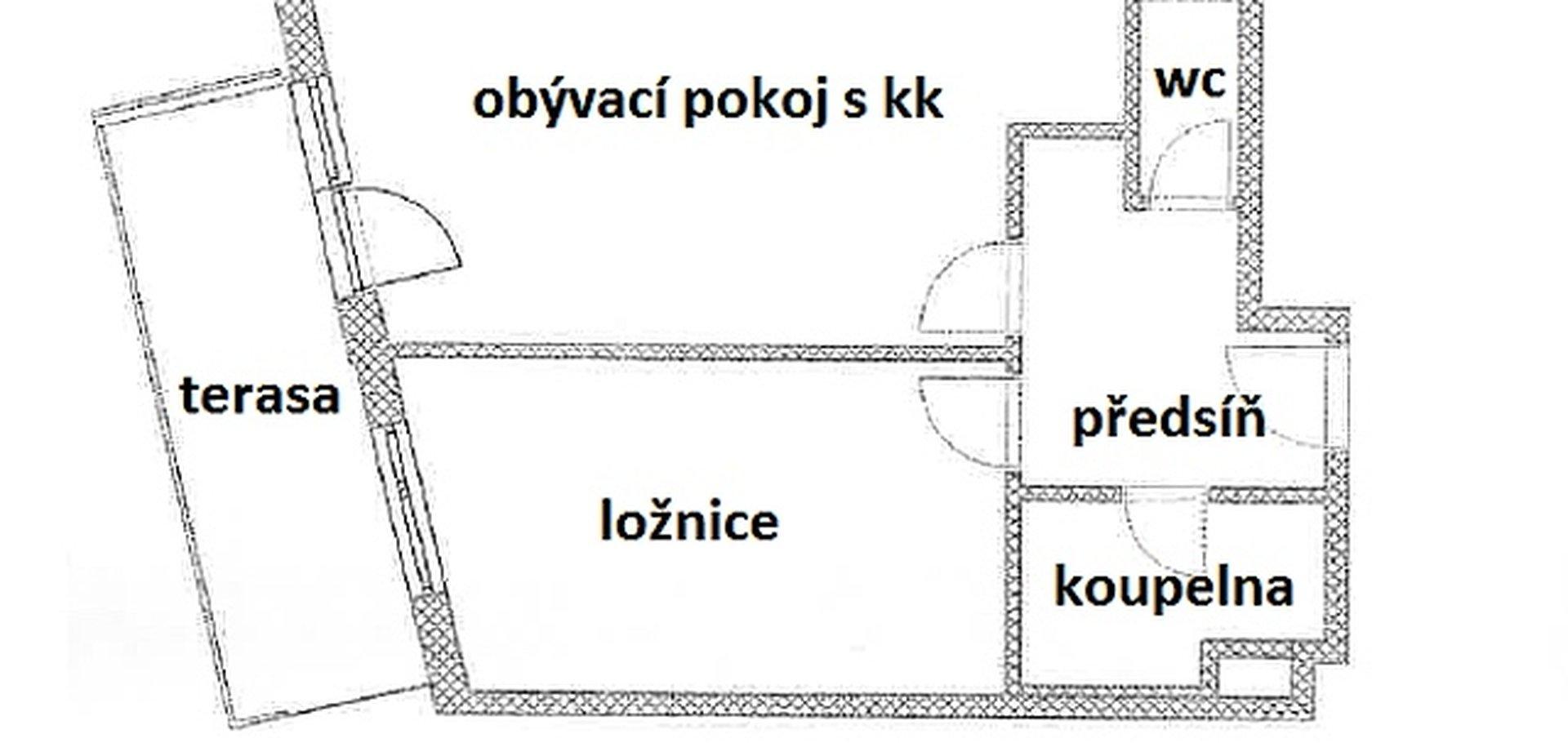 Pronájem, Byty 2+kk, 54m² - Praha - Smíchov