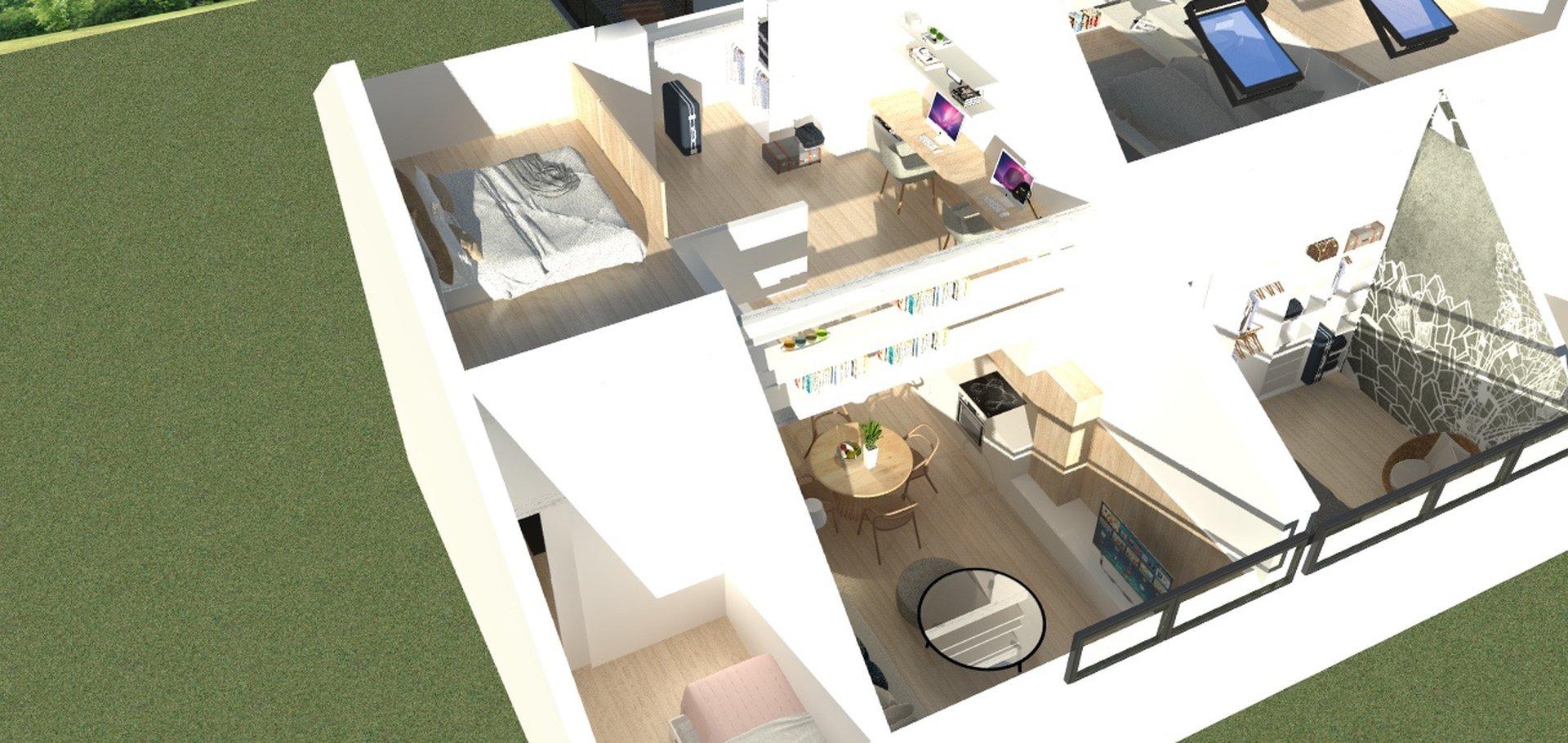 Prodej nového mezonetového bytu 3+kk, 85m² - Plzeň - Jižní Předměstí